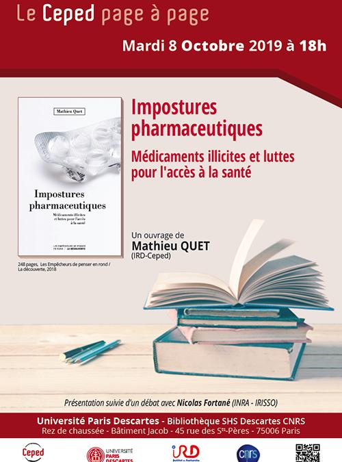 ÉVÈNEMENT | 8/10/19 – le Ceped page à page – Impostures pharmaceutiques