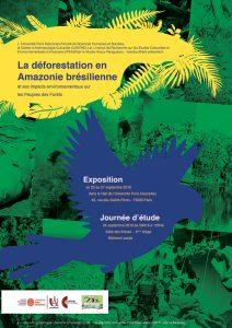 Journée d'étude  |  La déforestation en  Amazonie brésilienne et ses impacts environnementaux sur  les Peuples des Forêts @ Salle des thèses  - 5ème étage - Bâtiment Jacob
