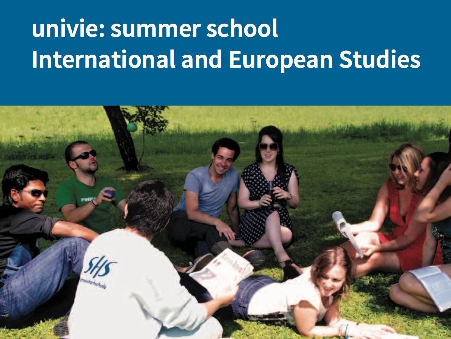 18/07/2019 – 19/08/2019 – Université d'été – Études européennes et internationales 2020 de la Sommerhochschule de l'Université de Vienne
