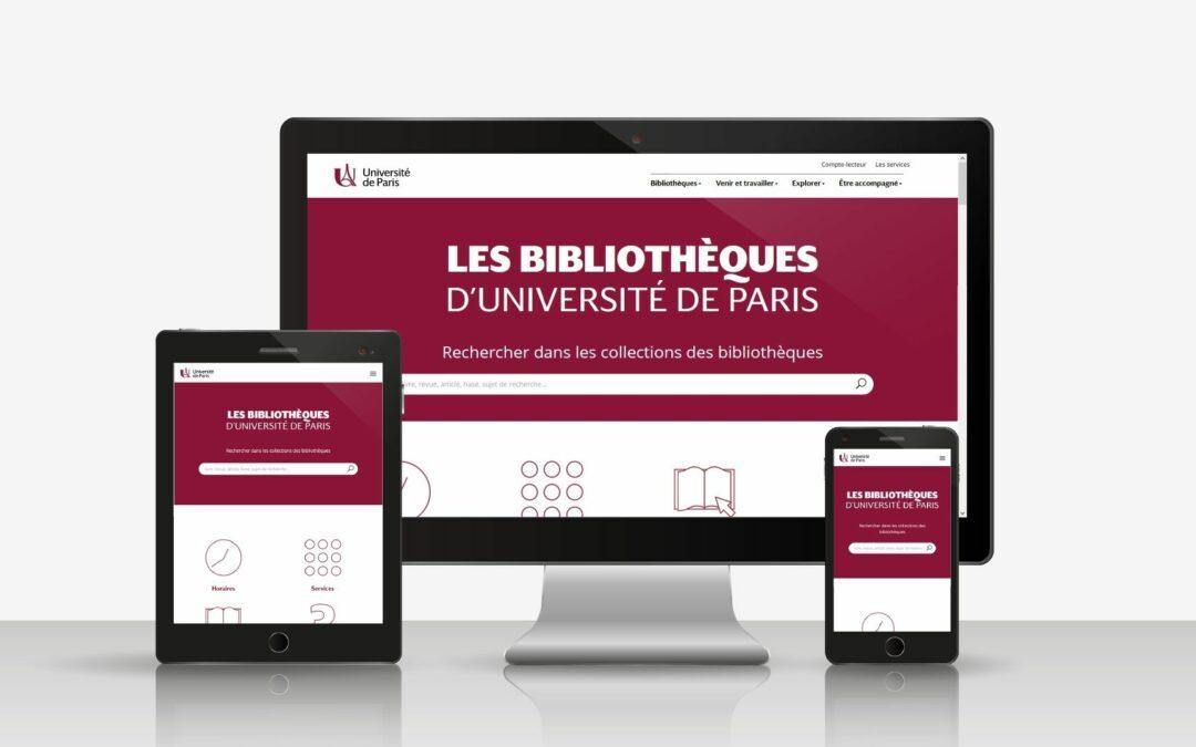 Un portail web unique pour les bibliothèques d'Université de Paris